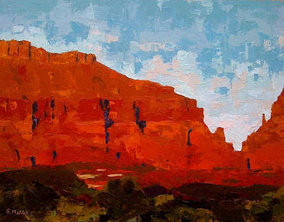 Painting - Red Cliffs by Sylvia Miller
