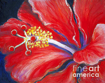 Painting - Red Hibiscus by Audrey Peaty