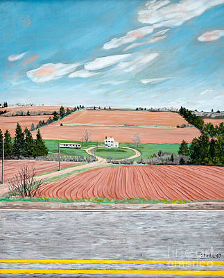 Painting - Red Soil On Prince Edward Island by Stella Sherman