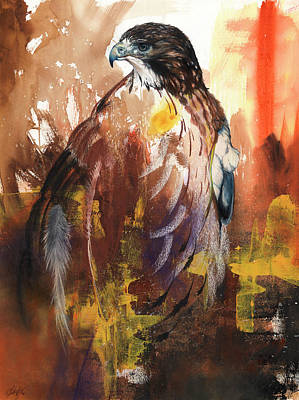 Mixed Media - Red-tail II by Anthony Burks Sr