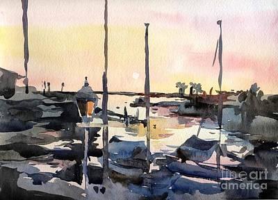 Watercolor Painting - Redando Beach- California by Natalia Eremeyeva Duarte