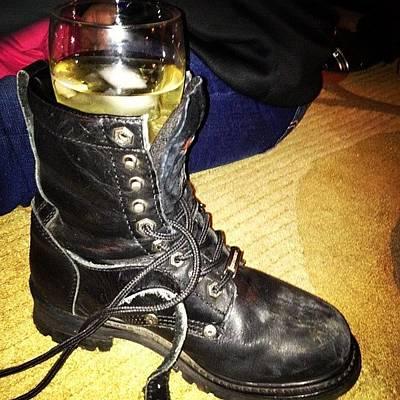 Leather Photograph - Redneck Wine Glass Holder #redneck by Danielle Mcneil