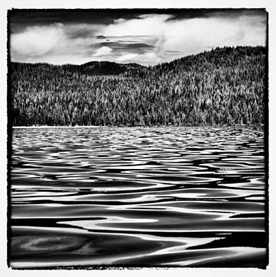 Chimney Rock Photograph - Reflected Waves On Priest Lake by David Patterson
