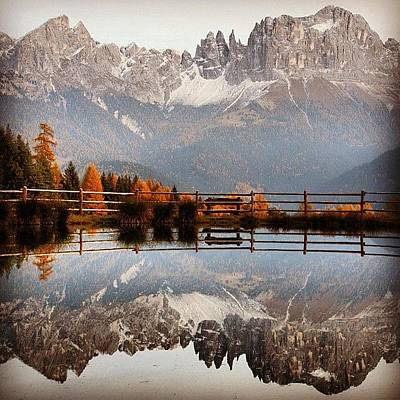 Mountain Photograph - Reflections by Luisa Azzolini