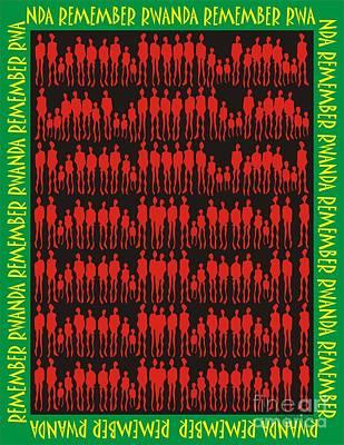 Remember Rwanda Art Print by Walter Oliver Neal