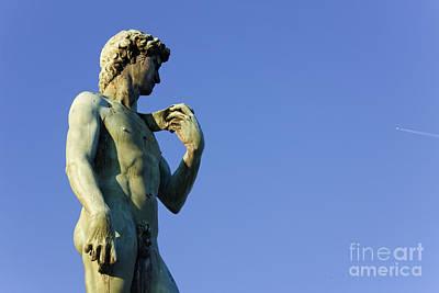 Replica Of Michelangelos David In The Piazza Michelangelo Art Print by Jeremy Woodhouse