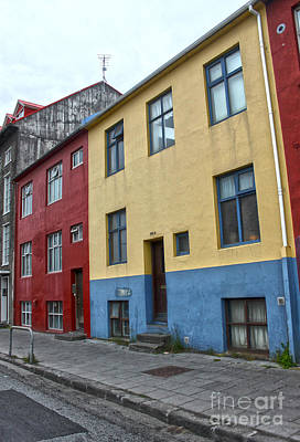 Photograph - Reykjavik Iceland - Colorful House by Gregory Dyer