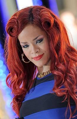 Rihanna At Talk Show Appearance For Nbc Print by Everett