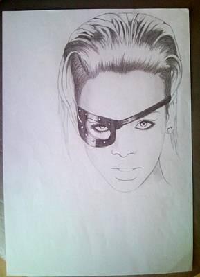 Rihanna Drawing - Rihanna by Lucia Vratiakova