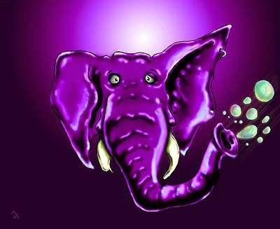 Cartoon Animals Drawing - Ringo Party Animal Purple by Adam Vance