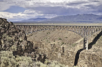 Rio Grande Gorge Bridge Art Print by Melany Sarafis