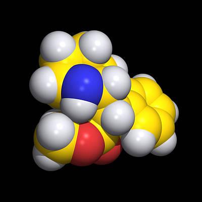 Ritalin Molecule Art Print by Dr Tim Evans