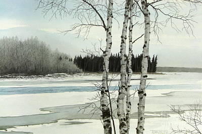 Painting - River Thaw by Frank Townsley