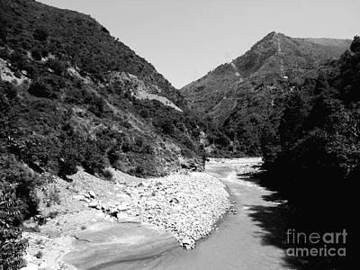 Photograph - River Through Mountains by Hari Om Prakash