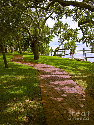 Pittsburgh According To Ron Magnes - River Walk on the Indian River Lagoon by Allan  Hughes