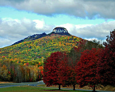 Photograph - Road To Pilot Mountain  by Sheila Kay McIntyre