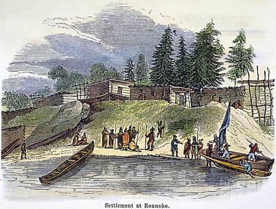 Roanoke: Colony, C1587 Print by Granger