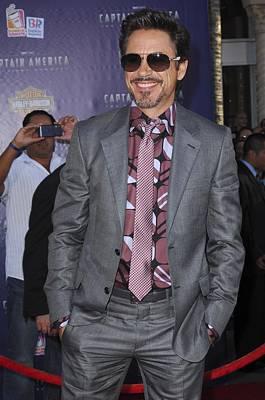 Gray Suit Photograph - Robert Downey Jr. At Arrivals by Everett