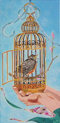 Mixed Media - Robin Bird by Robin Birrell