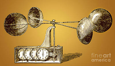 Anemometer  - Robinsons Anemometer, 1846 by Photo Researchers