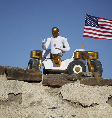 Robonaut 2 Poses Atop Its New Wheeled Art Print by Stocktrek Images