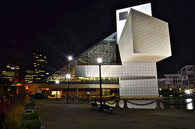 Rock And Roll Hall Of Fame Art Print by Frozen in Time Fine Art Photography