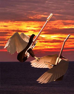 Digital Art - Rock Guitar Edge by Eric Kempson