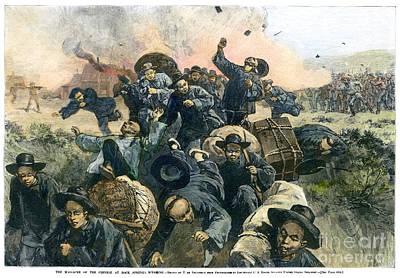 Discrimination Photograph - Rock Springs Massacre by Granger