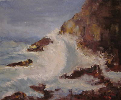 Painting - Rocky Coast by Brent Moody