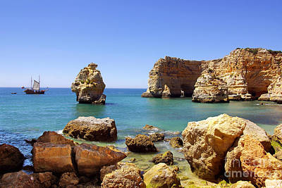 Algarve Wall Art - Photograph - Rocky Coast by Carlos Caetano