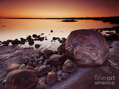 Ontario Photograph - Rocky Shore At Twilight by Oleksiy Maksymenko