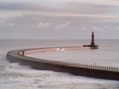 Roker Pier And Lighthouse, Sunderland, Uk Art Print by Jason Friend Photography Ltd