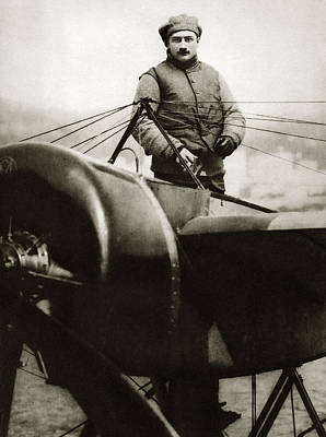 Roland Garros Photograph - Roland Garros, French Aviator by Sheila Terry