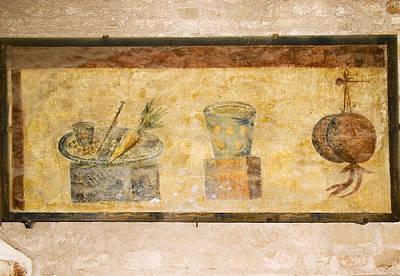 Roman Fresco, Ostia Antica Art Print by Sheila Terry
