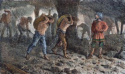 Oppression Photograph - Roman Slavery: Coal Mine by Granger