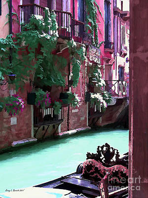 Mixed Media - Romantic Venice by Jerry L Barrett