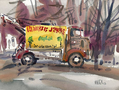 Signage Painting - Ronnie John's by Donald Maier
