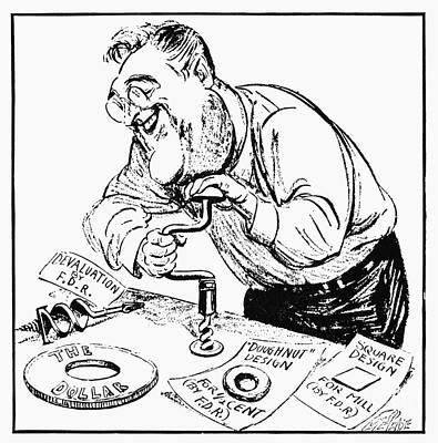Roosevelt Cartoon, 1934 Art Print by Granger
