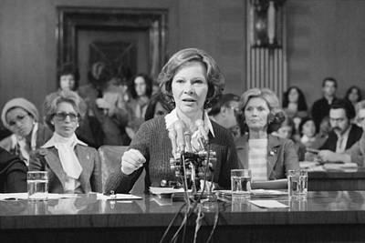 Rosalynn Carter Testifies Before Senate Art Print by Everett