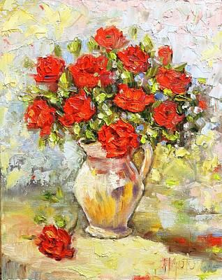 Painting - Roses by Mirjana Gotovac