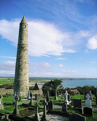 Ardmore Photograph - Round Tower, Ardmore, Co Waterford by The Irish Image Collection