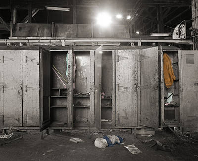 Photograph - Roundhouse Lockers by Jan W Faul