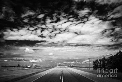 Carriageway Photograph - route highway 10 near wasagaming Manitoba Canada by Joe Fox