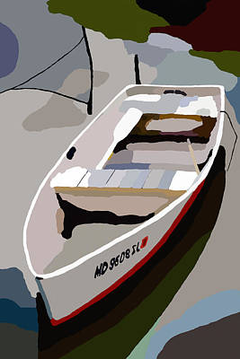 Digital Art - Row Boat San Damingo Creek by Jim Proctor