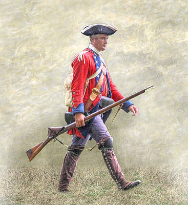 Seven Years War Photograph - Royal American Soldier French And Indian War by Randy Steele
