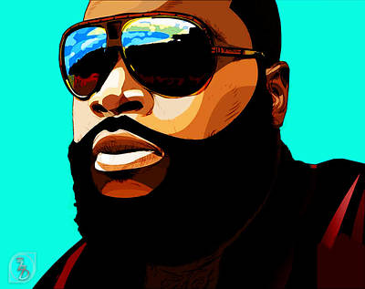 Rozay Art Print by The DigArtisT