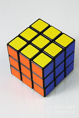 Rubiks Cube Art Print