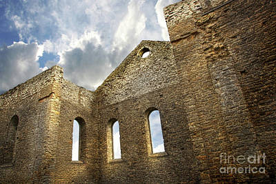 Ruins Of A Church In South Glengarry Art Print by Sandra Cunningham