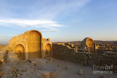 Ruins Of Shivta Byzantine Church Art Print by Nir Ben-Yosef