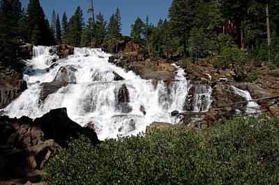 Nevada Lake Tahoe Photograph - Running Water Glen Alpine Falls by LeeAnn McLaneGoetz McLaneGoetzStudioLLCcom